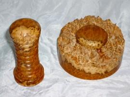 handmade palm gavel brown mallee burr wood