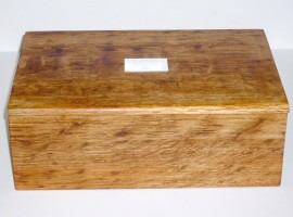 handmade personalised brown oak wood box