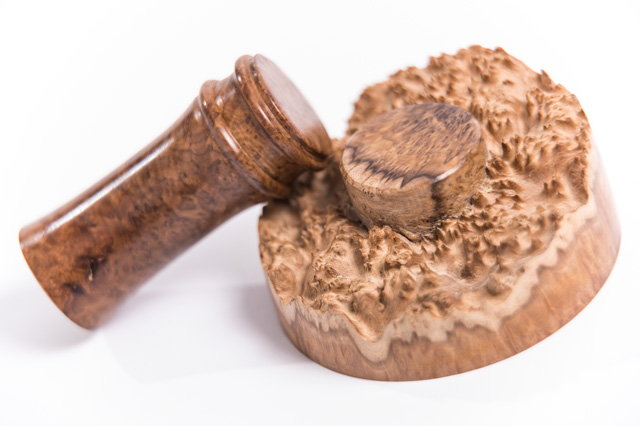 wooden palm gavel