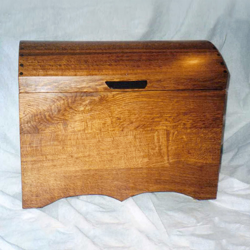 handmade wooden roll top sea chest