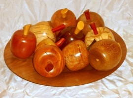 handmade wooden apples