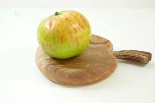 handmade wooden apple shaped mini chopping board