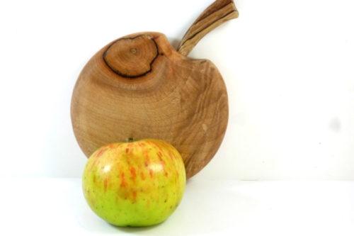 apple shaped mini wooden chopping board