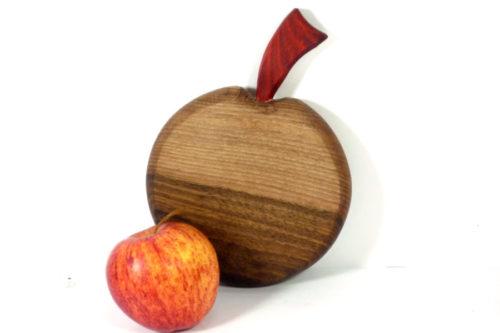 wooden apple shaped mini chopping board