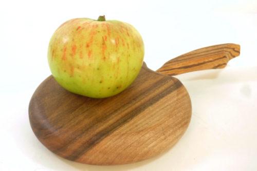 walnut mini apple chopping board