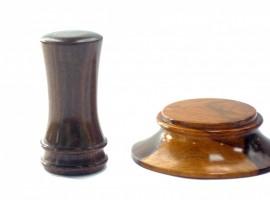 old lignum vitae gavel and block