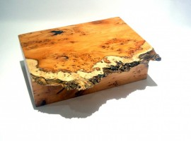 presentation boxed gavel set in burr yew