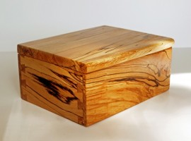 spalted beech wooden box