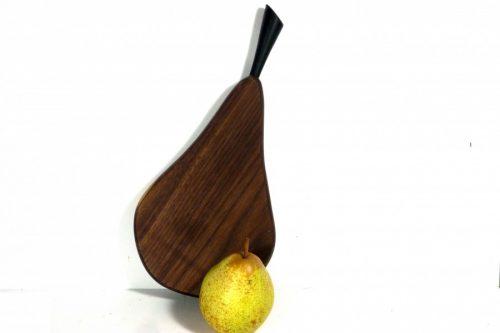 handmade hand cut pear shaped wooden chopping board