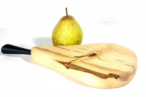 handmade wooden chopping board pear shaped