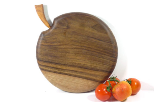 wooden chopping board apple shaped handmade