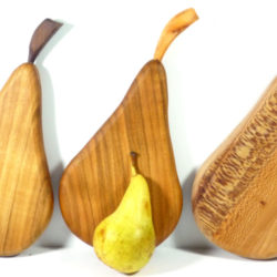 wooden handmade pear shaped chopping board