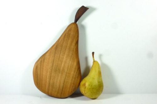wooden handmade pear shaped chopping board