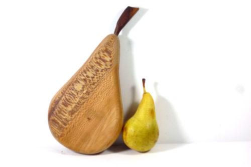 handmade wooden pear shaped chopping board