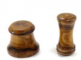 Handmade palm gavel and striking block in English laburnum wood
