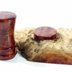 handmade palm gavel and block Australian red mallee burr