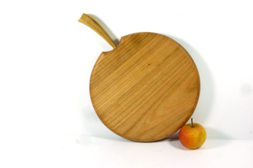 handmade wooden apple shaped chopping board