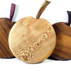 wooden handmade apple shaped chopping boards