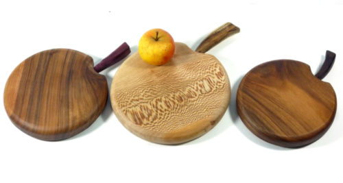 wooden chopping boards apple shaped handmade