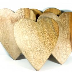 Handmade hand cut wooden chopping board English Lacewood