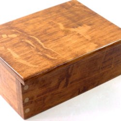handmade wooden box for palm gavels in brown oak and holly