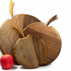 Set of 3 handmade hand cut chopping boards English Walnut