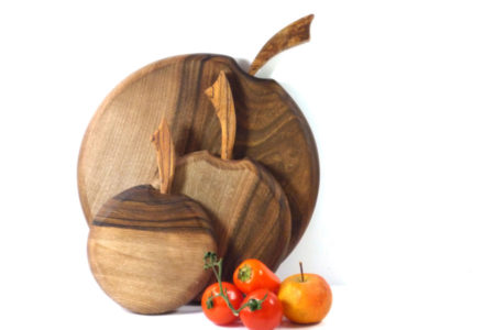 walnut wooden chopping board set of 3