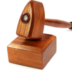 mason gavel and block