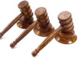 wooden gavel trio