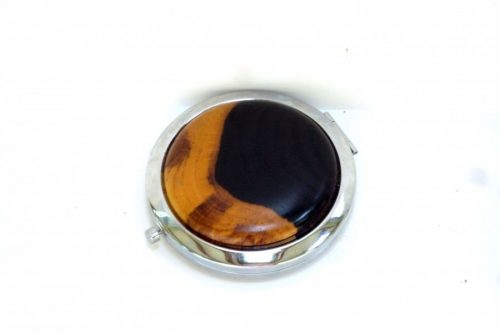 compact with decorative wooden top in African Blackwood