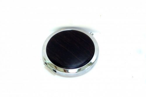Compact with decorative wooden top in Ebony wood