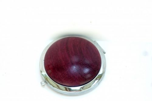 compact with decorative wooden top in Purpleheart wood