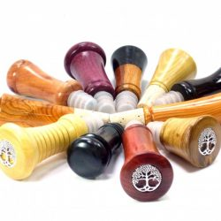 selection of unique handmade wooden wine stoppers