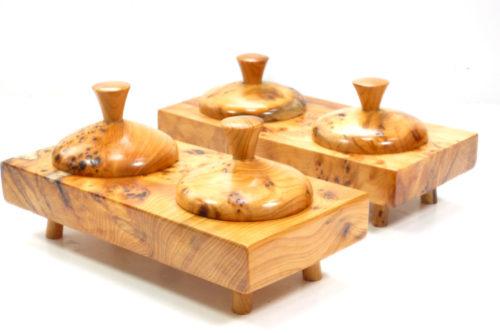 salt and pepper pinch pots wooden handmade
