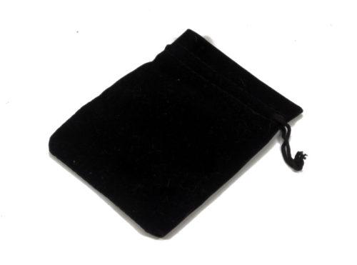 velvet black drawstring bag
