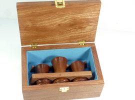 Custom made presentation palm gavel set