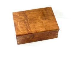 Handmade wooden box brown oak