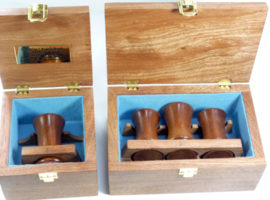 Custom made presentation boxed gavel sets in mahogany wood