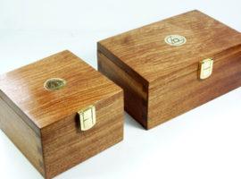 Presentation boxed palm gavel sets