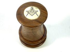 Freemason's handmade wooden palm gavel walnut