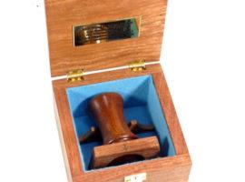Presentation boxed palm gavel mahogany