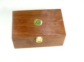 Presentation custom made boxed palm gavel set