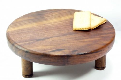 handmade wooden cake stand walnut with removeable feet