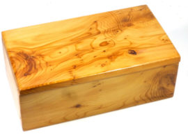 English burr yew box for Tak game pieces