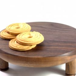 handmade walnut wooden cake stand table piece