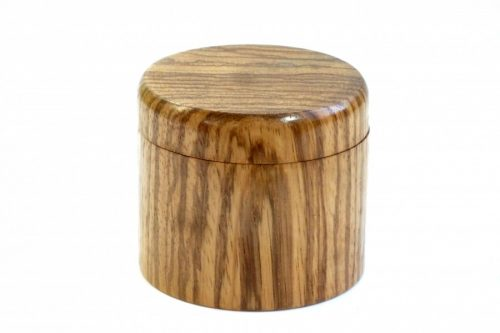 handmade swivel magnetic top Zebrano wood
