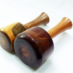 old lignum vitae carving mallet