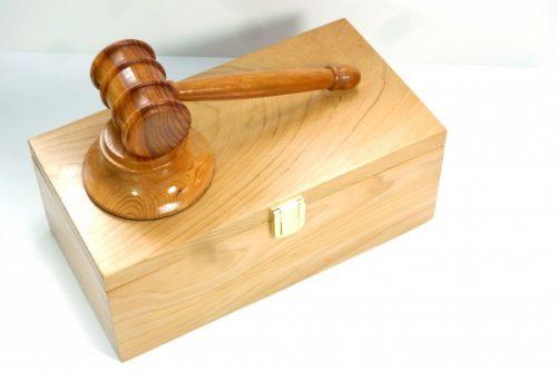 handmade wooden boxed gavel set
