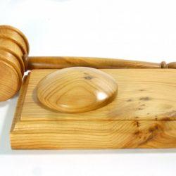 handmade gavel and block English Yew