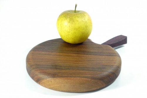 Handmade solid single piece chopping board with additional stalk detail